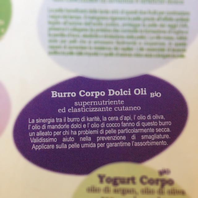 Biofficina Barcaglione Burro Corpo Dolci Oli Bio testo