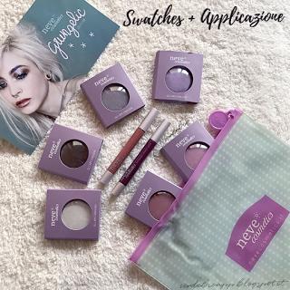 Swatches + Applicazione GRUNGELIC Collection Di Neve Cosmetics  verdebio